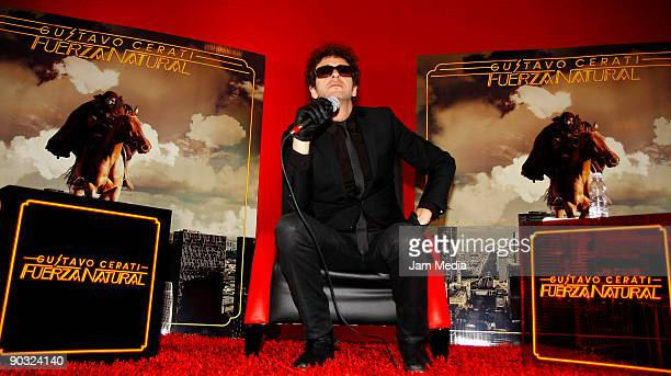 Argentine singer Gustavo Cerati presents his new album 'Fuerza Natural' during a press conference on September 3 2009 in Mexico City Mexico