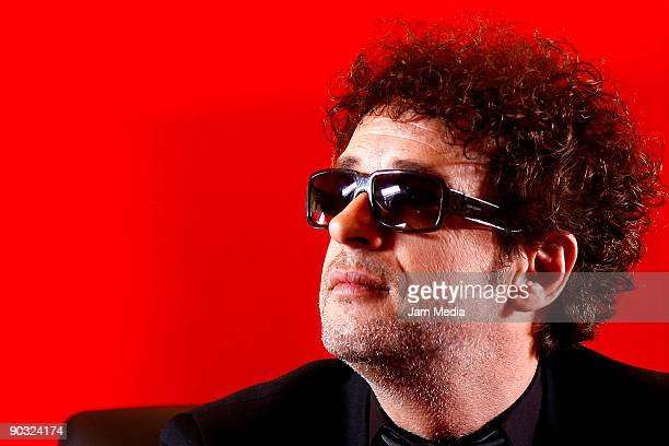 Argentine singer Gustavo Cerati presents his new album 'Fuerza Natural' during a press conference on September 3, 2009 in Mexico City, Mexico.