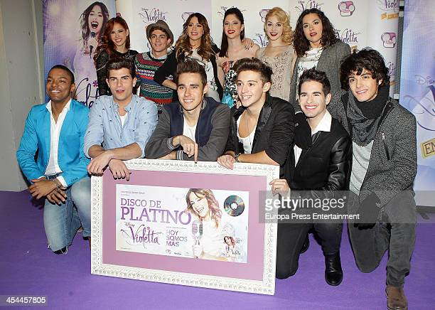 Argentine singer Martina Stoessel 'Violetta' on Disney Channel poses during a photocall before his concert of her tour in Spain 'Violetta In Concert'...