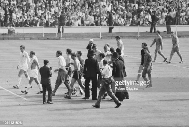 Argentine soccer player Rattín being sentoff during the ArgentinaEngland match at 1966 FIFA World Cup Wembley Stadium London UK 23rd July 1966