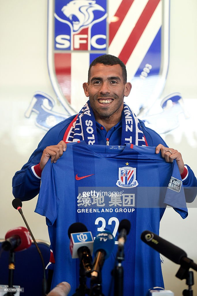 Carlos Tevez Holds Press Conference In Shanghai