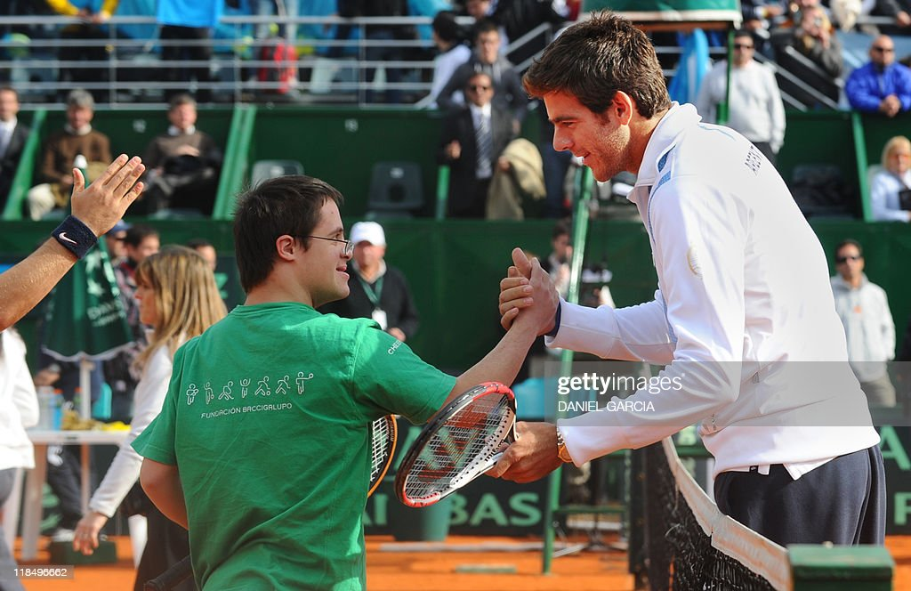 Argentine tennis player Juan Martin Del : News Photo