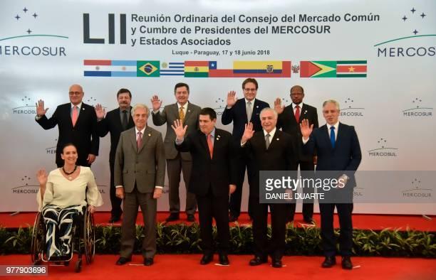 Argentine VicePresident Gabriela Michetti Uruguay's President Tabare Vazquez Paraguay's President Horacio Cartes Brazil's President Michel Temer...