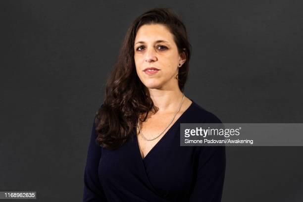 Argentine writer Ariana Harwicz attends a photo call during Edinburgh International Book Festival 2019 on August 19 2019 in Edinburgh Scotland