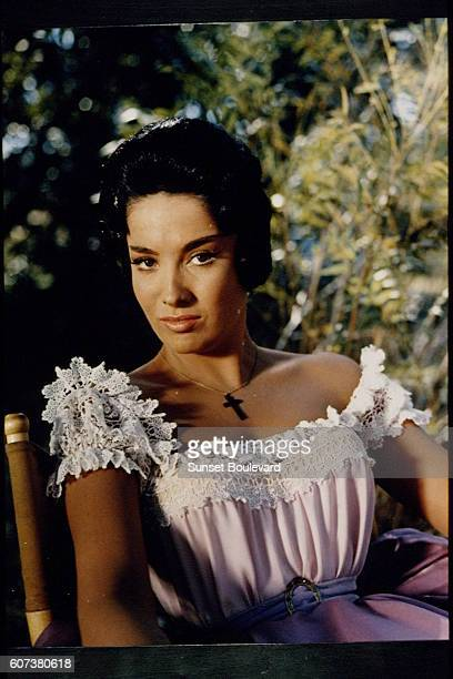 ArgentineAmerican actress Linda Cristal on the set of Alamo directed by John Wayne