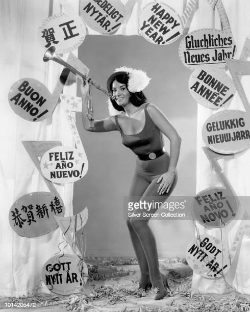 ArgentineAmerican actress Linda Cristal wishes the viewer a 'Happy New Year' in a variety of different languages circa 1960