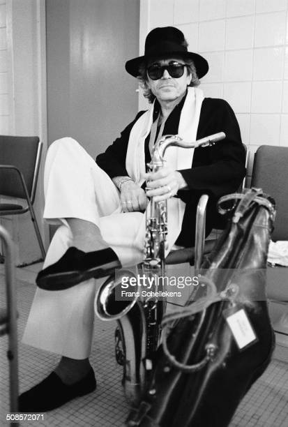 Argentinean saxophone player Gato Barbieri poses at the North Sea Jazz Festival in the Hague Netherlands on 13th July 1997