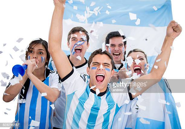 argentinean soccer fans - argentina stock pictures, royalty-free photos & images