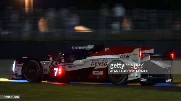 Argentine's driver Jose Maria Lopez competes during the qualifying practice session of the 86th edition of the 24 Hours of Le Mans endurance race on...