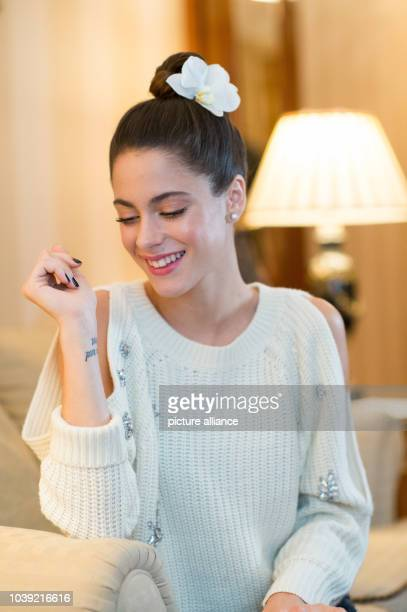 Argentinian actor Martina Stoessel star of the TV series 'Violetta' during an interview in a hotel in Berlin Germany 18 October 2016 Photo...