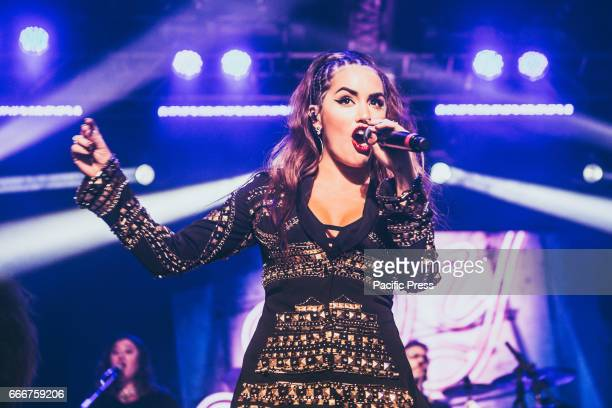 Argentinian actress Lali Esposito performs live at Magazzini Generali Espósito began her career as an actress and singer in 2003