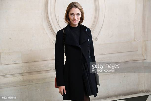 Argentinian art director and fashion consultant Sofia Sanchez de Betak poses before the Christian Dior 2017 spring/summer Haute Couture collection on...