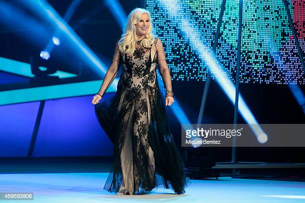 Argentinian broadcaster Susana Gimenez attends the 61st Ondas Awards 2014 on stage at the Gran Teatre del Liceu on November 25 2014 in Barcelona Spain