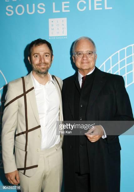 Argentinian contemporary artist Leandro Erlich and Palais de Tokyo Art Club president Bernard Chenebault attend 'Sous le Ciel Carte Blanche A Leandro...
