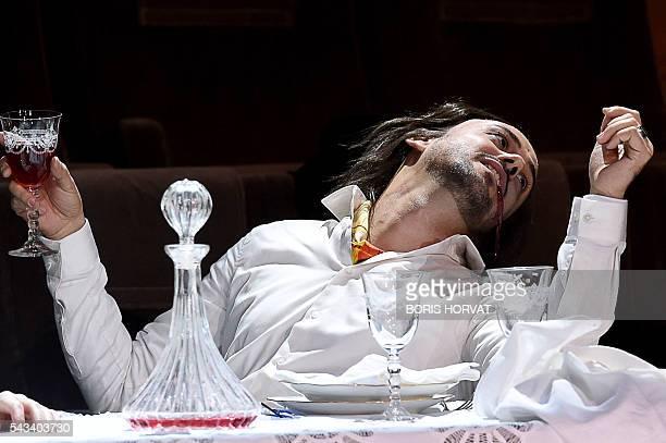 Argentinian countertenor Franco Fagioli as Piacere performs in Georg Friedrich Haendel's opera Il Trionfo del Tempo e del Disinganno directed by...