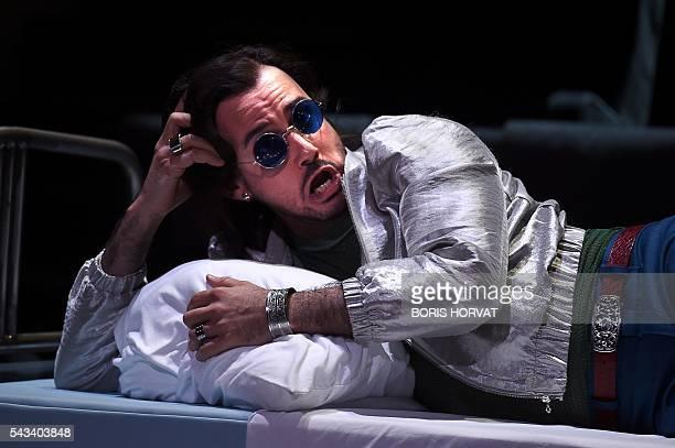 Argentinian countertenor Franco Fagioli performs as Piacere in Georg Friedrich Haendel's opera Il Trionfo del Tempo e del Disinganno directed by...