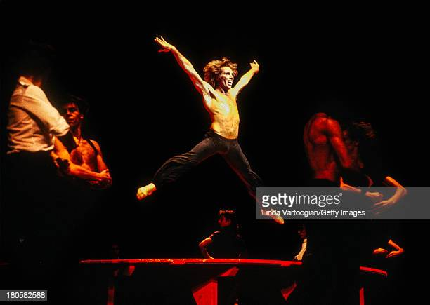 Argentinian dancer Jorge Donn performs with the Bejart Ballet of the 20th Century in Maurice Bejart's 'Bolero' to the music of Maurice Ravel at City...