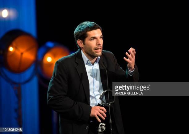 Argentinian director Benjamin Naishtat holds the 'Concha de Plata' best director award for his film 'Rojo' during the 66th San Sebastian Film...