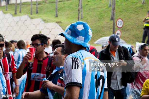 Argentinischen Fans gehen entsprechend in die WM 2014