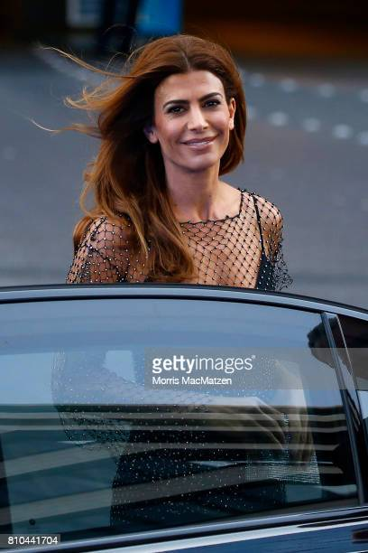 Argentinian First Lady Juliana Awada arrive to attend a concert at the Elbphilharmonie philharmonic concert hall on the first day of the G20 economic...