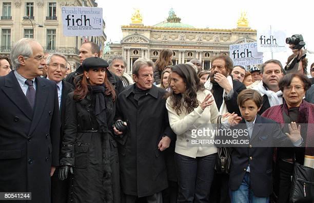 Argentinian Foreign minister Jorge Taiana , Argentine President Cristina Fernandez de Kirchner , French Foreign minister Bernard Kouchner , Astrid...