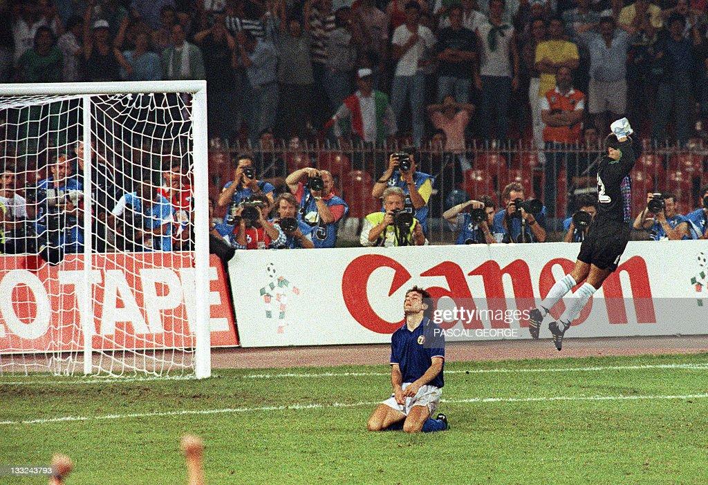 Argentinian goalkeeper Sergio Goycochea : News Photo