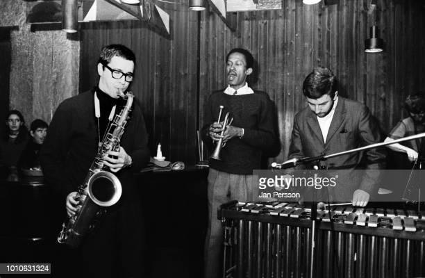 Argentinian jazz saxophonist Gato Barbieri American jazz trumpeter Don Cherry German vibraphone player Karl Berger and Danish bassist Bo Stief...