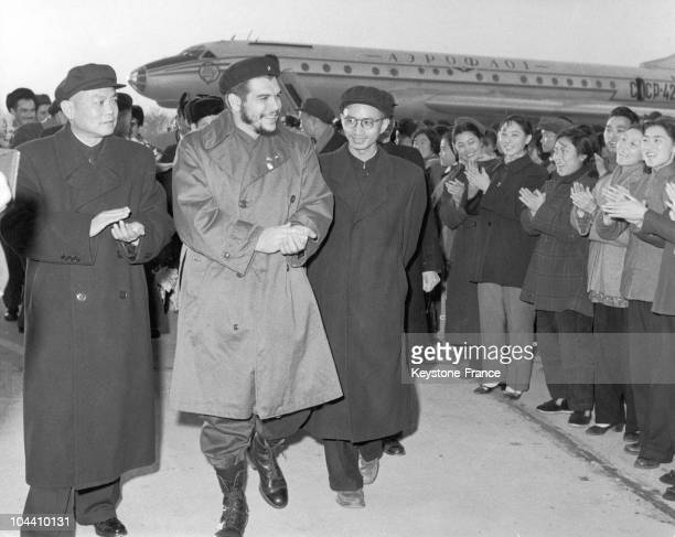 Argentinian leader and revolutionary Ernesto GUEVARA President of Cuba National Bank and responsible for the country's finances is arriving in...