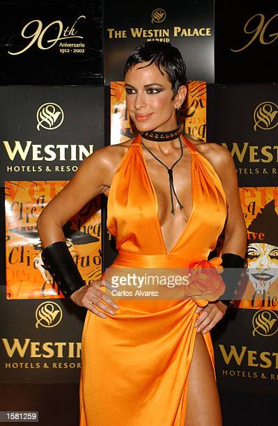 Argentinian model Daniela Cardone attends the Veuve Clicquot Halloween Party at Palace Hotel October 31 2002 in Madrid Spain