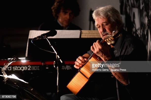 Argentinian musician and author Juan Carlos 'Flaco' Biondini performs at Osteria delle Dame on November 10 2017 in Bologna Italy