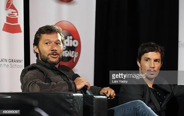 Argentinian musicians Diego Torres and Emmanuel Horvilleur attend Latin GRAMMY En Las Escuelas - Buenos Aires with the Universidad Nacional de Tres...