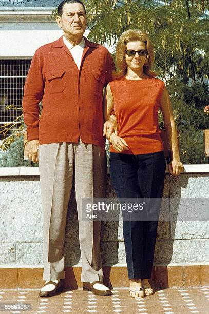 argentinian politician Juan Peron and his 3rd wife Maria Estela Isabel Martinez in the 60's during exile in Spain