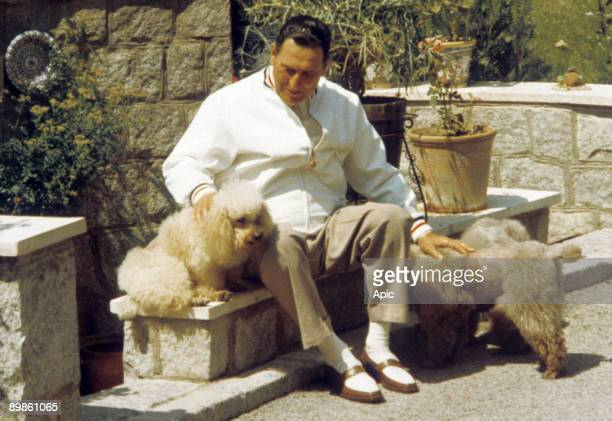 argentinian politician Juan Peron in Madrid may 24 1966 during his exile in Spain