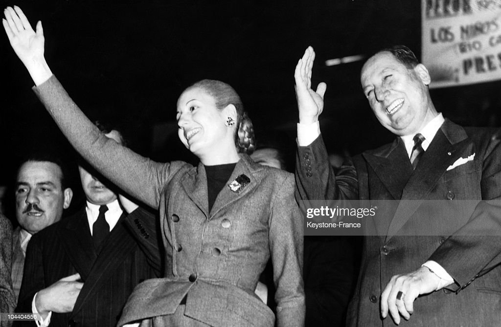 Argentinian President Peron And His Wife In 1951 : News Photo