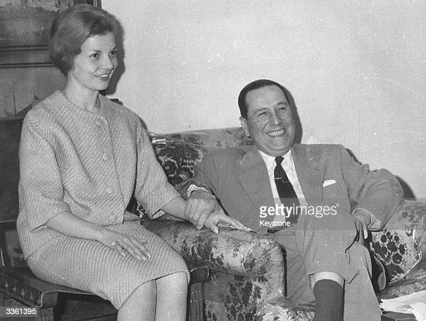 Argentinian president Juan Peron with his third wife Isabel de Peron