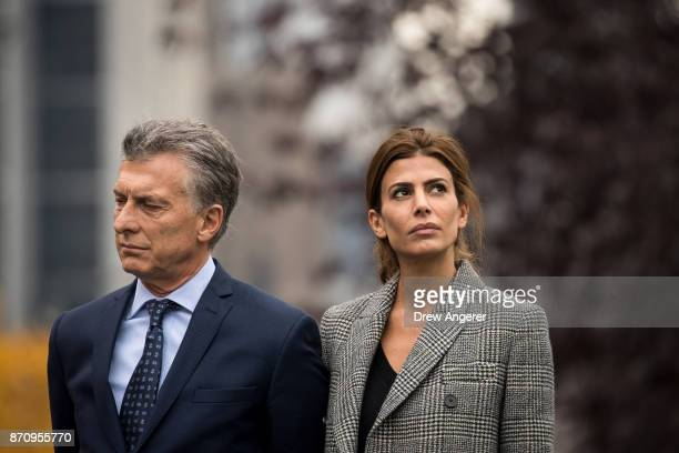 Argentinian President Mauricio Macri and First Lady of Argentina Juliana Awada attend a tribute for the victims of last week's vehicular attack on...