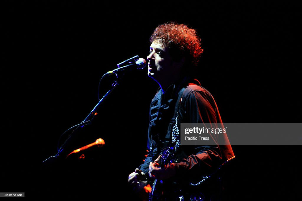Argentinian rock star, Gustavo Cerati during his last concert in Bogotá on May 13, 2010, at Coliseo Cubierto El Campín two days before he fall into a coma after a concert in Caracas, Venezuela. Cerati is considered one of Latin America's most popular rock stars and died at 55 in Buenos Aires, after four ( 4 ) years in a comatose state.