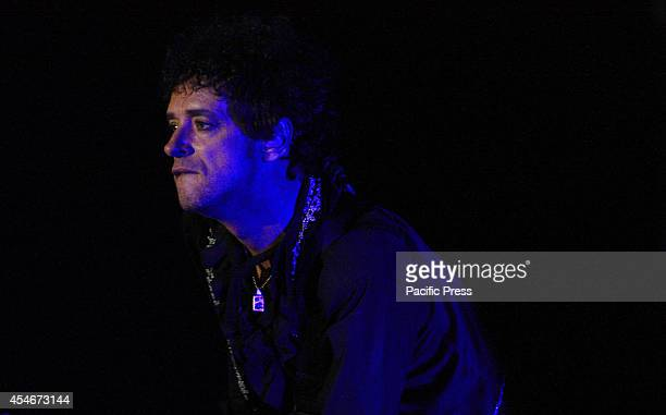 Argentinian rock star, Gustavo Cerati during his last concert in Bogotá on May 13 at Coliseo Cubierto El Campín two days before he fall into a coma...