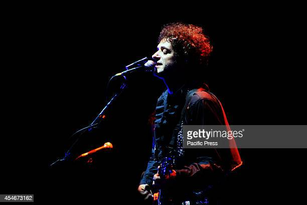 Argentinian rock star Gustavo Cerati during his last concert in Bogotá on May 13 at Coliseo Cubierto El Campín two days before he fall into a coma...
