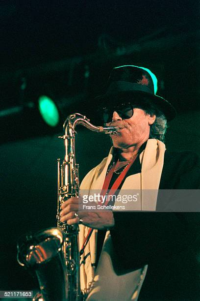 Argentinian Saxophone player Gato Barbieri performs on July 13th 1997 at the North Sea Jazz Festival in the Hague Netherlands