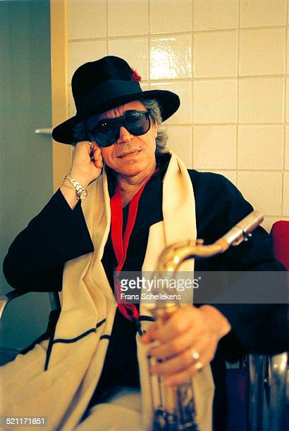 Argentinian Saxophone player Gato Barbieri poses on July 13th 1997 at the North Sea Jazz Festival in the Hague Netherlands