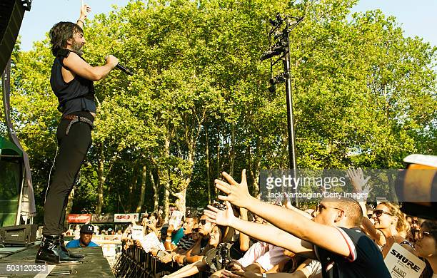 Argentinian singer Adrian Dargelos Rodriguez performs with the band Babasonicos as they headline the final concert of the 15th Annual Latin...