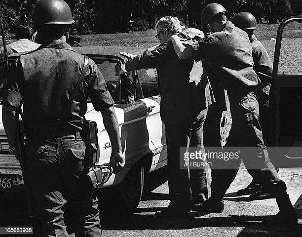 Argentinian soldiers frisk a civilian at a checkpoint in Buenos Aires in 1977 Argentine exdictator General Reynaldo Bignone has admitted that 8000...