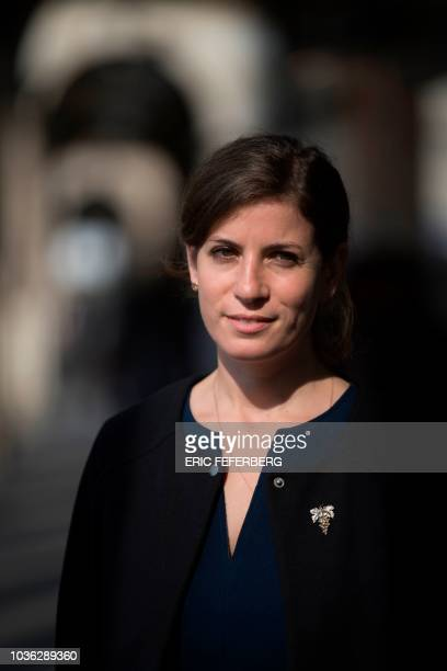 Argentinian sommelier Paz Levinson poses on September 14 2018 in Paris Paz Levinson is head sommelier for the restoration group of French chef...