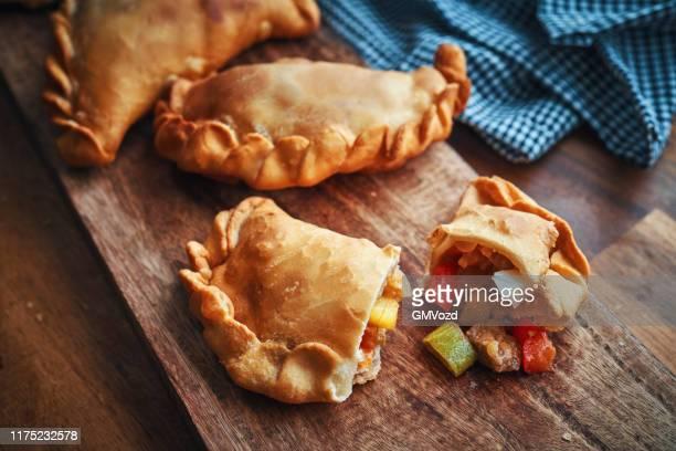 argentinian spicy beef empanadas - empanada stock pictures, royalty-free photos & images