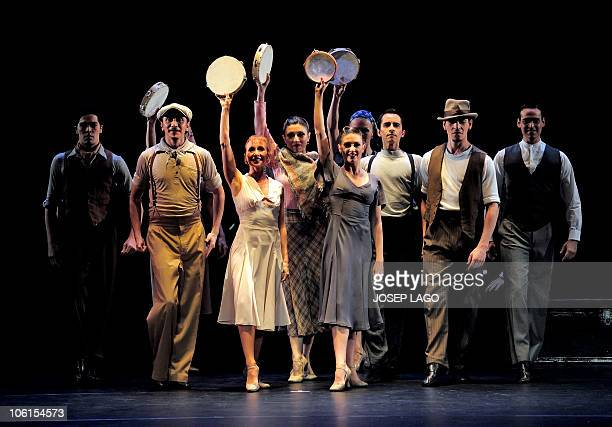 Argentinian Tango dancers of Eleonora Cassano Company perform in Barcelona at Coliseum theater on October 26 2010 The show named Tango de burdel...
