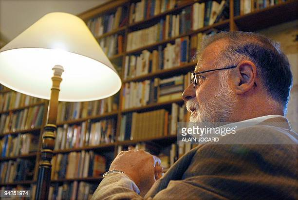 Argentinian writer Alberto Manguel pictured 11 Septembre 2007 in his house of Mondion near the city of Châtellerault Alberto Manguel is a writer...