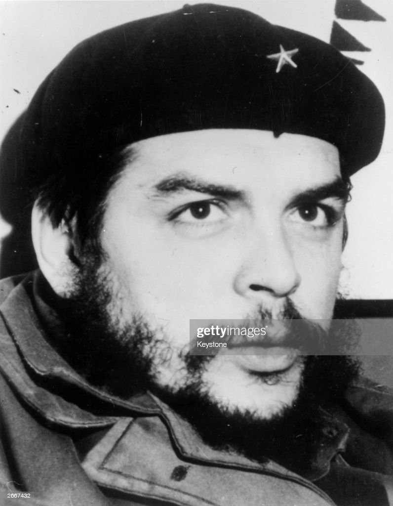 Argentinian-born Cuban Communist revolutionary leader Ernesto Che Guevara (1928 - 1967).