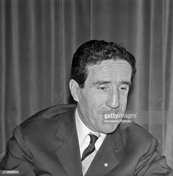 Argentinianborn French football trainer Helenio Herrera is shot halflength he nicknamed The Wizard is wellknown for the resounding successes with FC...