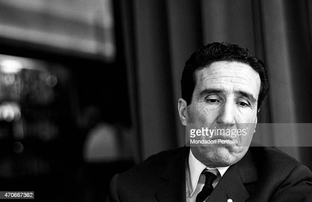 Argentinianborn French football trainer Helenio Herrera with an instinctive expression he nicknamed The Wizard is wellknown for the resounding...